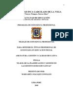 Rol de La Planificacion y Gestion II.ee.2018