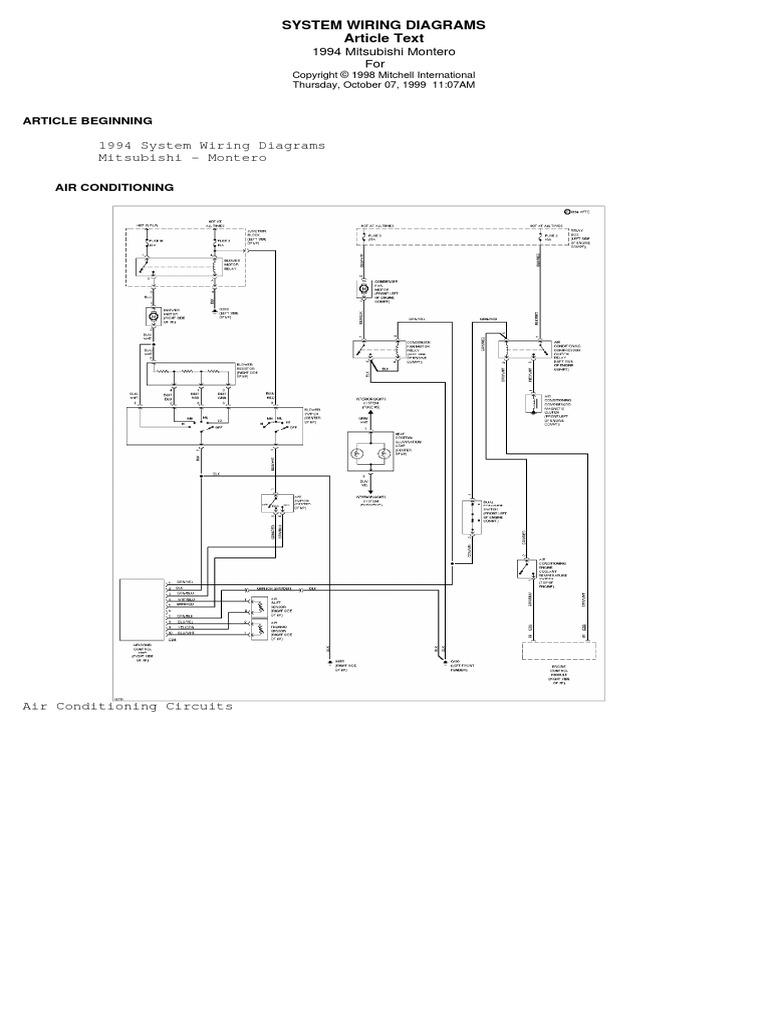 mitsubishi mighty 1994 mitsubishi montero 30l engine circuit schematic  diagram     on mitsubishi montero firing order