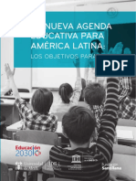 LA NUEVA AGENDA EDUCATIVA PARA AMERICA LATINA -Objetivos para 2030