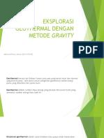Eksplorasi Geothermal Dengan Metode Gravity