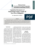 Population Parameters of Small Pelagic Fishes Caught off Tawi-Tawi, Philippines