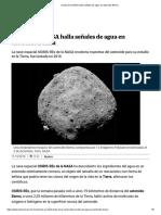 Sonda de La NASA Halla Señales de Agua en Asteroide Bennu