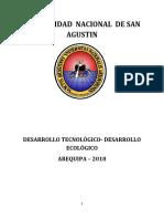 DESARROLLO TECNOLÓGICO- DESARROLLO ECOLÓGICO