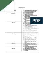 teacher instruction and checklist sheilha sultan h00354093