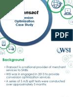 Case Study Itransact Conversion Optimzation Results