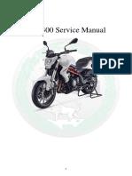 Benelli TNT300 Service Manual