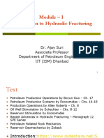 Module - 1 Introduction Hydraulic Fracturing