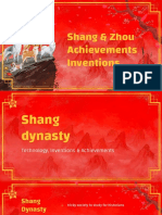 zhou   shang achievements inventions