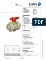 2W Ball Valve M1 PP PVDF Manual New