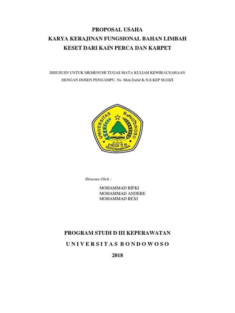 Proposal Usaha Print Docx