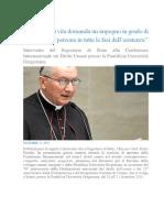 Discorso del Segretario di Stato Vaticano Comm 70° Anniv Dir Umani PUG