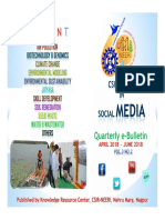 Csir-neeri in Social Media April to June 2018