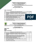 Cek List Pelayanan Radiologi