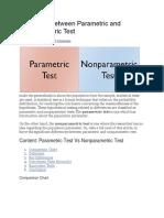 Non Parametric guide