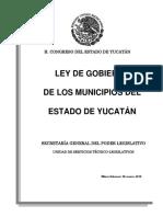 Ley de Gobierno de Los Municipios Del Estado de Yucatán