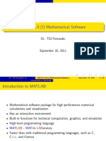 Mathematical Software - intro