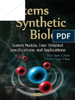 Systems Synthetic Biology System Models, User-Oriented Specifica