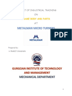 A Report of Industrial Training Mohit Jangra
