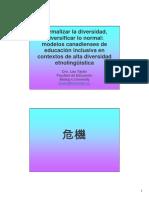 Normalizar La Diversidad_diversificar Lo Normal