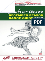 KutcheriBuzz December Season Dance Guide 2018