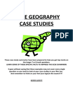 Geography IGCSE Case Studies
