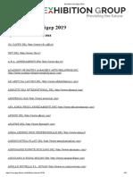 Exhibitors List Sigep 2019