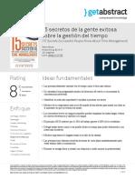 24. 15 Secretos de La Gente Exitosa Sobre La Gestion Del Tiempo