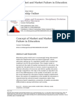 Concept of Market and Market Failure in Education
