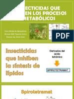 Insecticidas Que Inhiben Procesos Fisiologicos