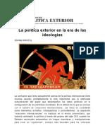 La Política Exterior en La Era de Las Ideologías