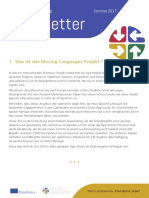 Moving Languages Newsletter Summer 2017 German