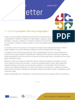 Moving Languages Newsletter Summer 2017 Italian