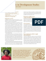 MSc in Development Studies at Lund University
