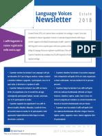Language Voices Newsletter Summer 2018 Italian