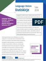 Language Voices Newsletter Winter 2018 FINNISH