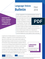 Language Voices Newsletter Winter 2018 FRENCH