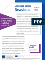 Language Voices Newsletter Winter 2018 ITALIAN