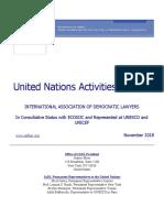UN Activities Bulletin November 2018