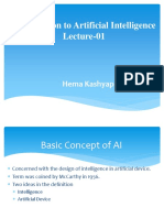 Lecture-01 Introduction to AI
