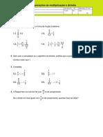 Propriedades Das Operações de Multiplicação e Divisão