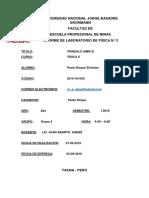 Pendulo Simple FISICA 2