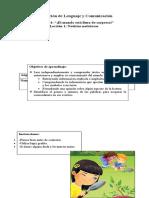 Evaluación de Lenguaje y Comunicación Unidad 4