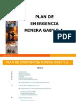 Presentación Plan de Emergencias  en Planta Minera