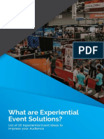What Are Experiential Event Solutions? List of 20 Experiential Event Ideas to Impress your Audience