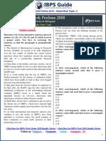 IBPS Clerk Prelims 2018 Model Mock Paper -2