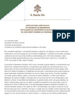 CARTA DO PAPA JOÃO PAULO II AO ARCEBISPO DE BIRMINGHAM POR OCASIÃO DO CENTENÁRIO DA ELEVAÇÃO DE JOHN HENRY NEWMAN AO CARDINALATO