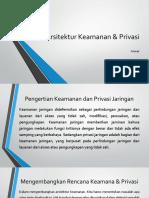 Arsitektur Keamanan & Privasi