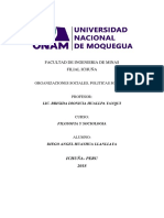 Organizaciones Sociales, Politicas Sociales Monografia