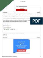 C++ Inline Functions