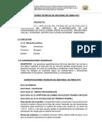 Especificaciones Técnicas Alcantarillado Sanitario-Deductivo
